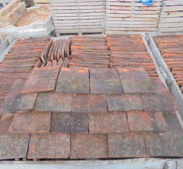 Reclaimed clay roofing nib tiles authentic reclamation for Buy clay roof tiles online