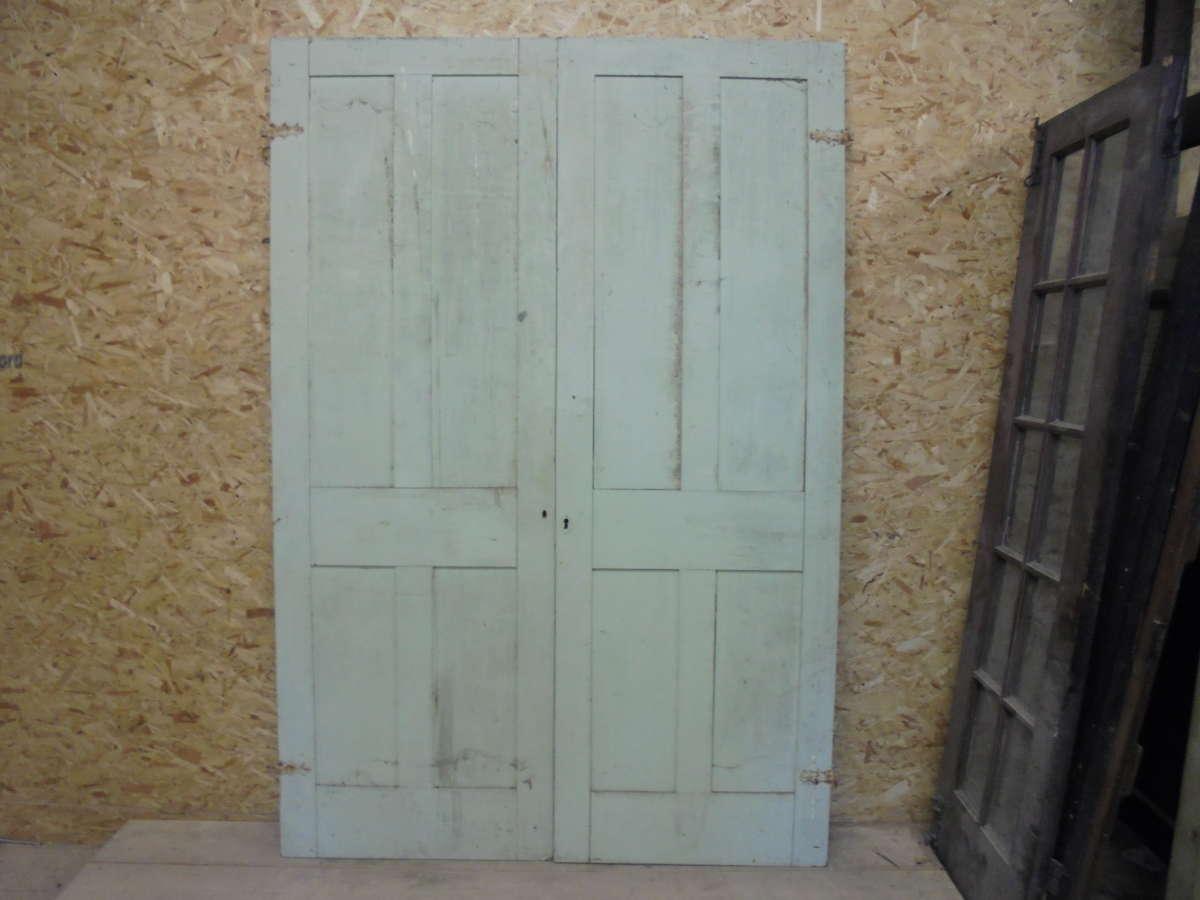 Reclaimed cupboard door pair