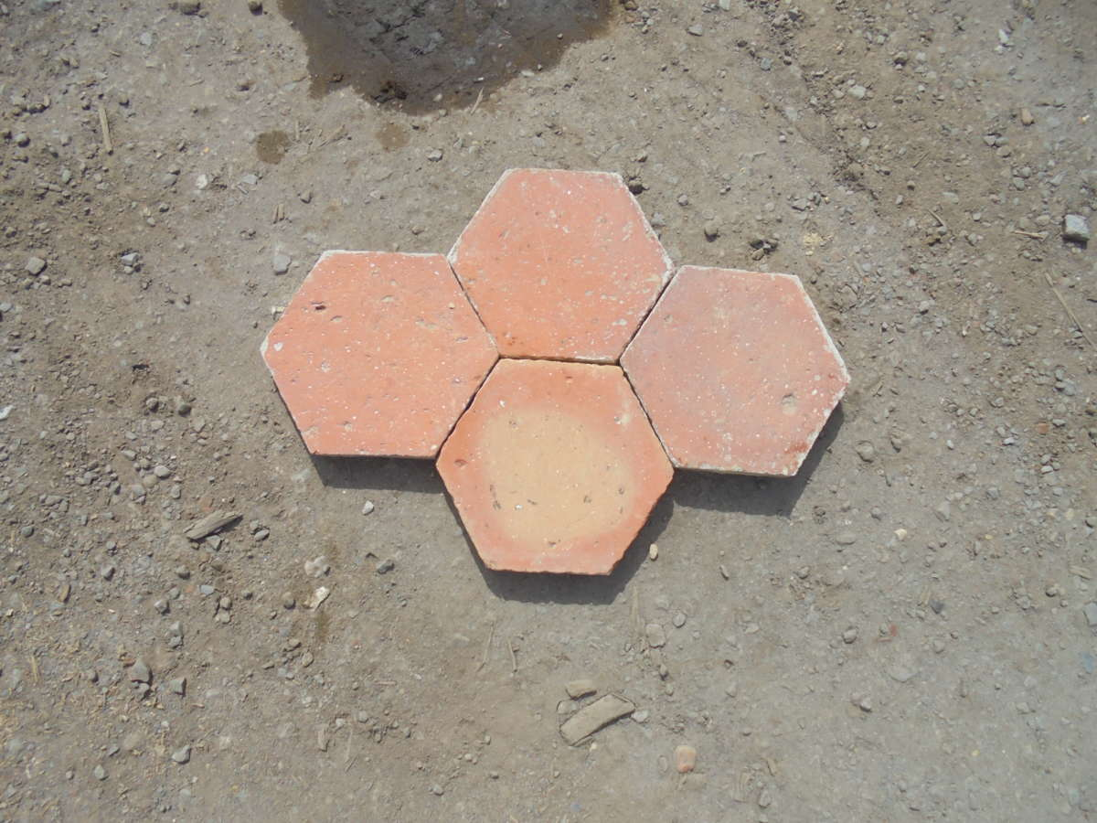 hexagonal floor tiles