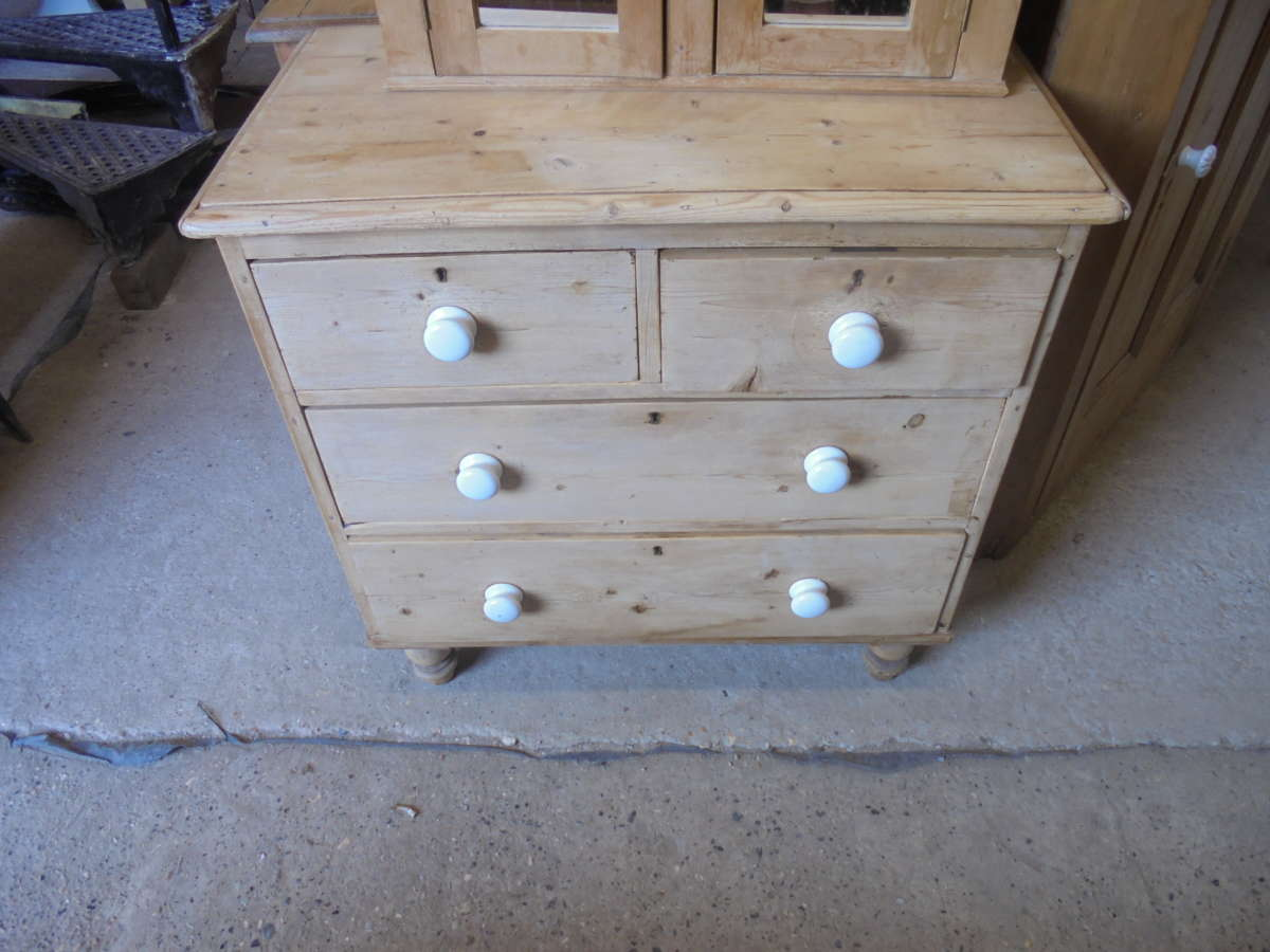antique pine chest of draws
