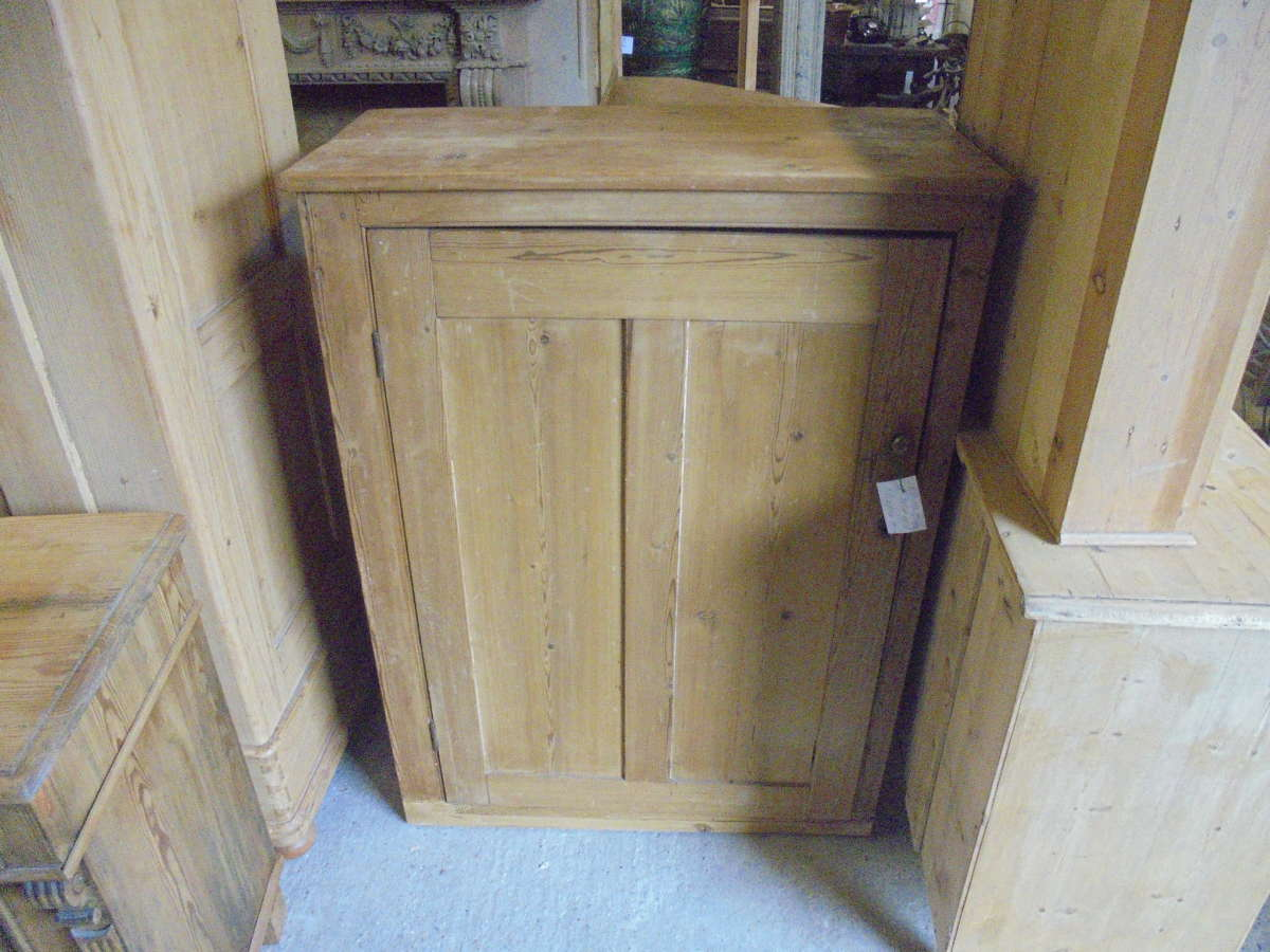 antique pine storage cupboard