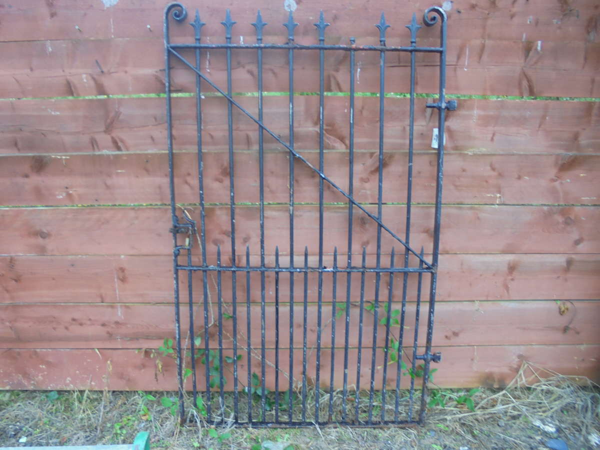 Tall Single Wrought Iron Gate
