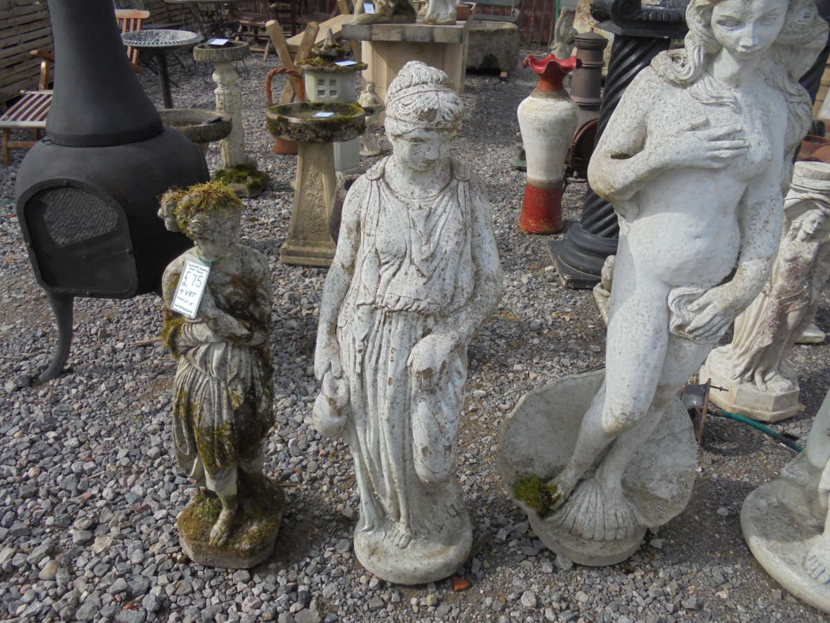 Small Reclaimed Stone Statue