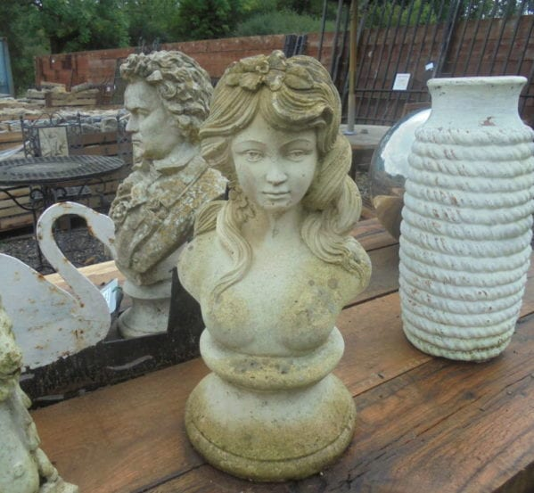 Small Reclaimed Stone Head Statue