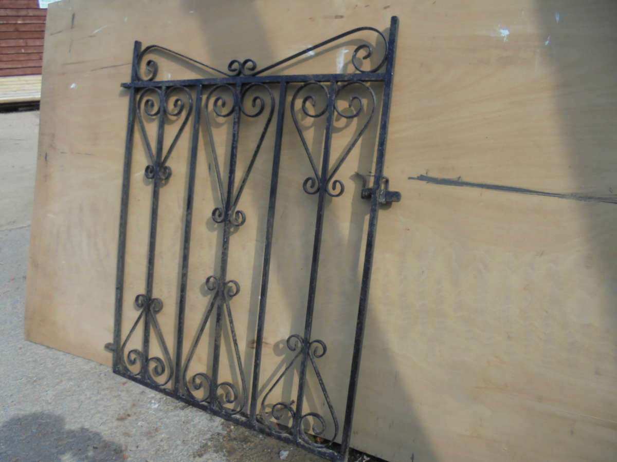 Small single wrought iron gate authentic reclamation