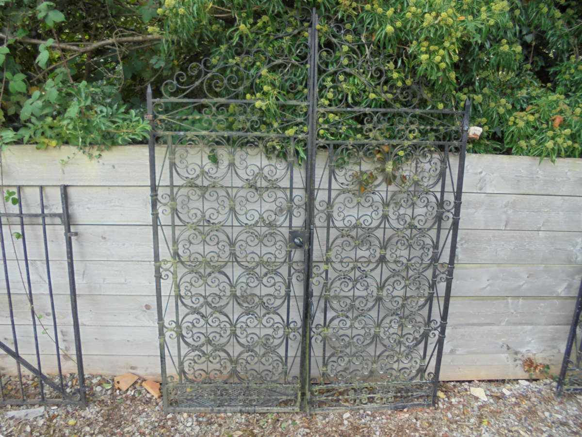 Large Reclaimed Wrought Double Gates