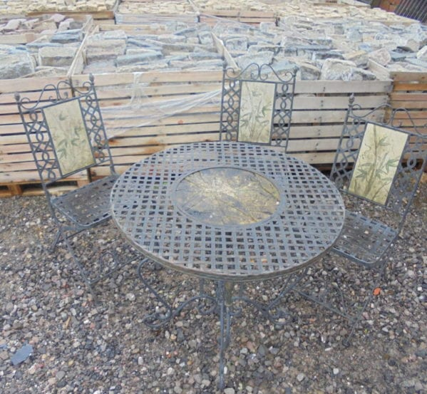 Small, Outdoors, Metal Table Chairs Set