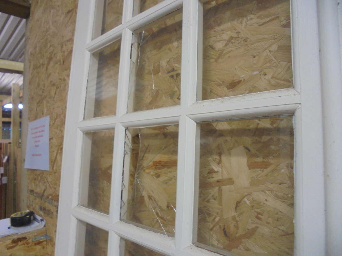 Quad Glazed Windows : Reclaimed quad fold painted doors authentic reclamation