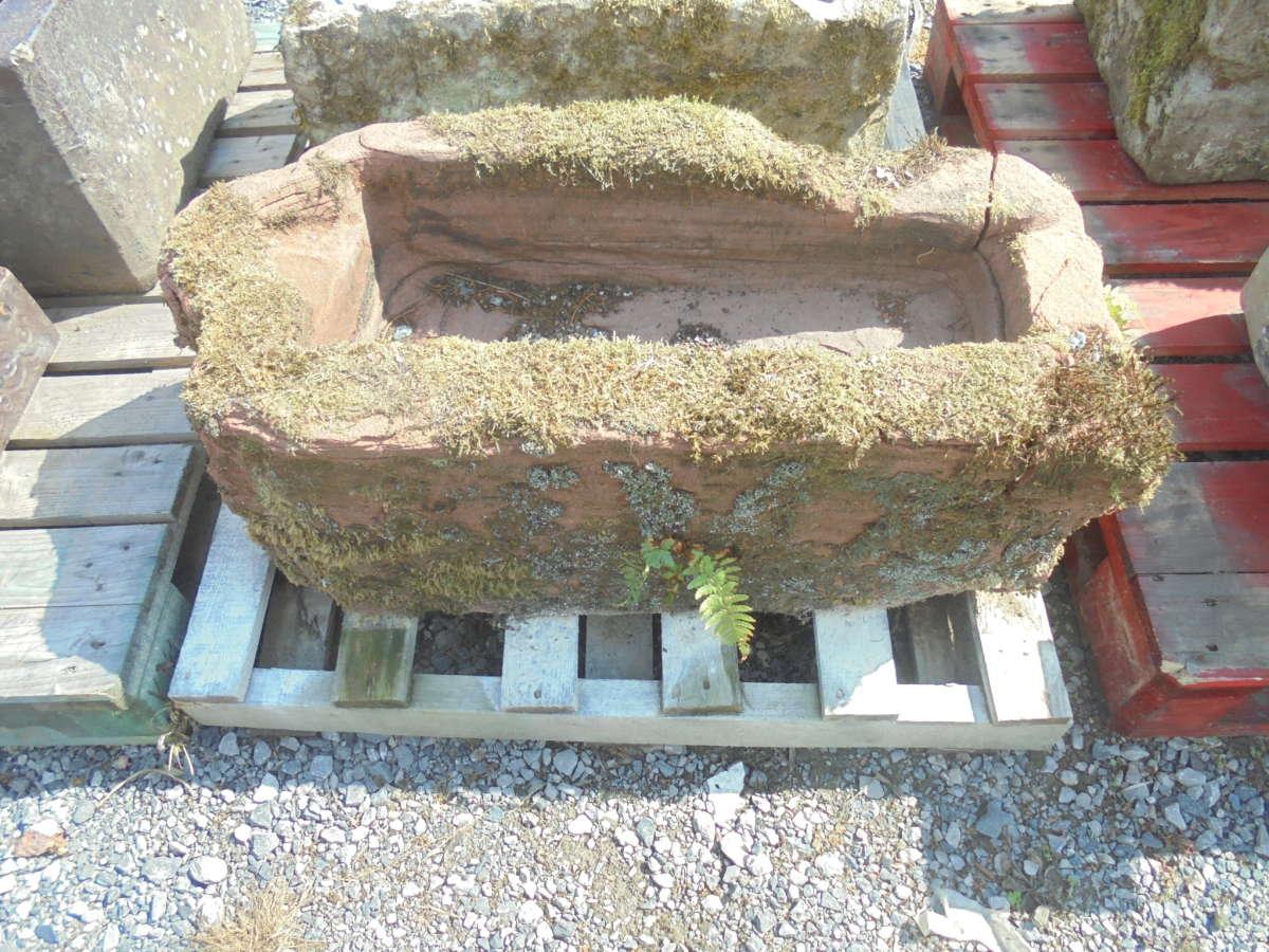 damaged stone trough