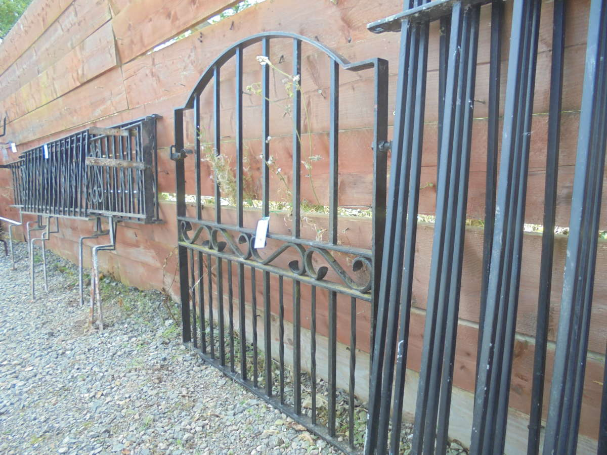 Arched wrought iron gate authentic reclamation