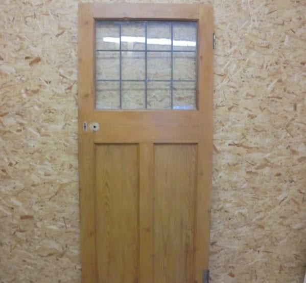 Three Panelled Door (1 glass over 2 wood)