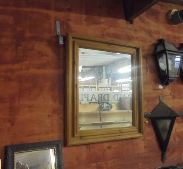 antique pine framed mirror