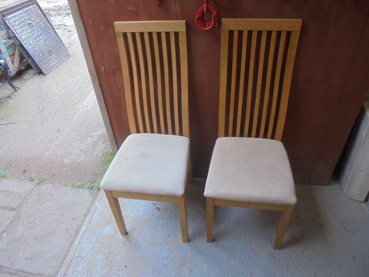 PAIR OF BEACH WOOD CHAIRS