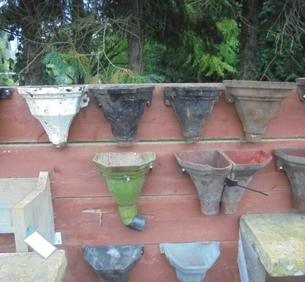 SELECTION OF RECLAIMED CAST IRON HOPPERS