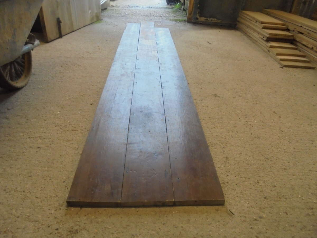 Varnished 6 1 4 Inch Reclaimed Floorboards Authentic