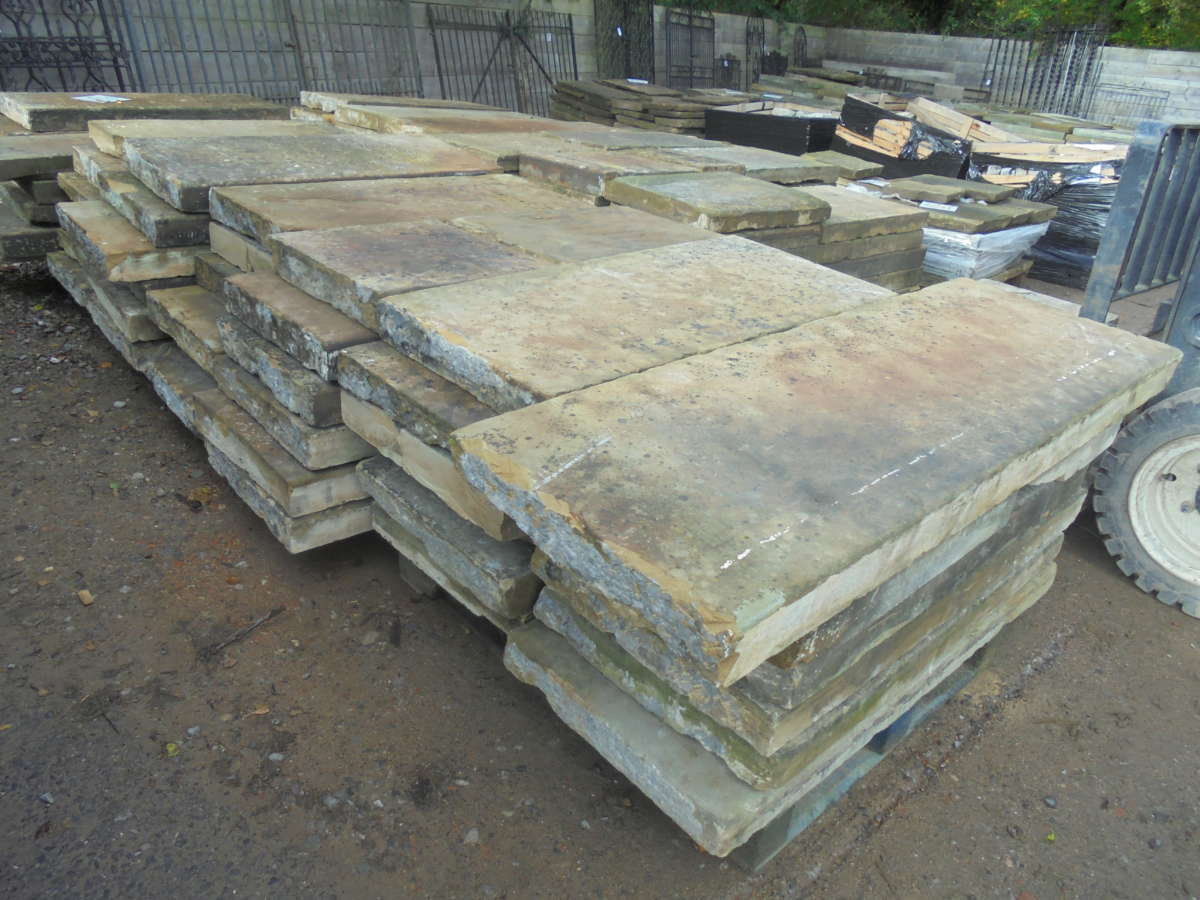 Large batch Reclaimed Railway York Stone
