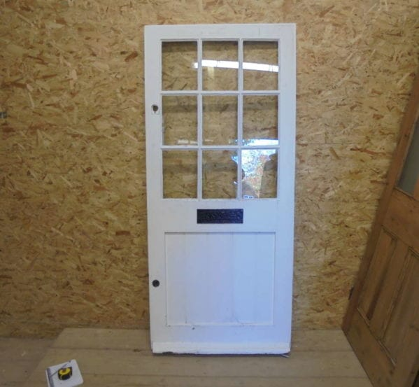 White Half Glazed 4 Panelled Front Door