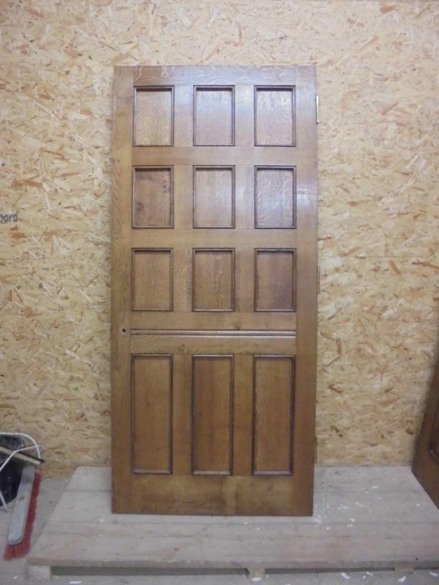 Supreme grain large oak 12 panel door authentic reclamation for 12 panel door