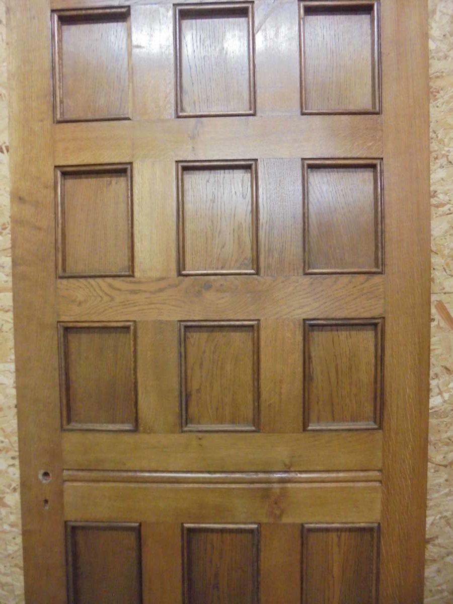 Top grade 12 panel oak door authentic reclamation for 12 pane door