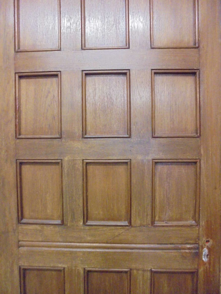 Large dark 12 panel oak door authentic reclamation for 12 panel door