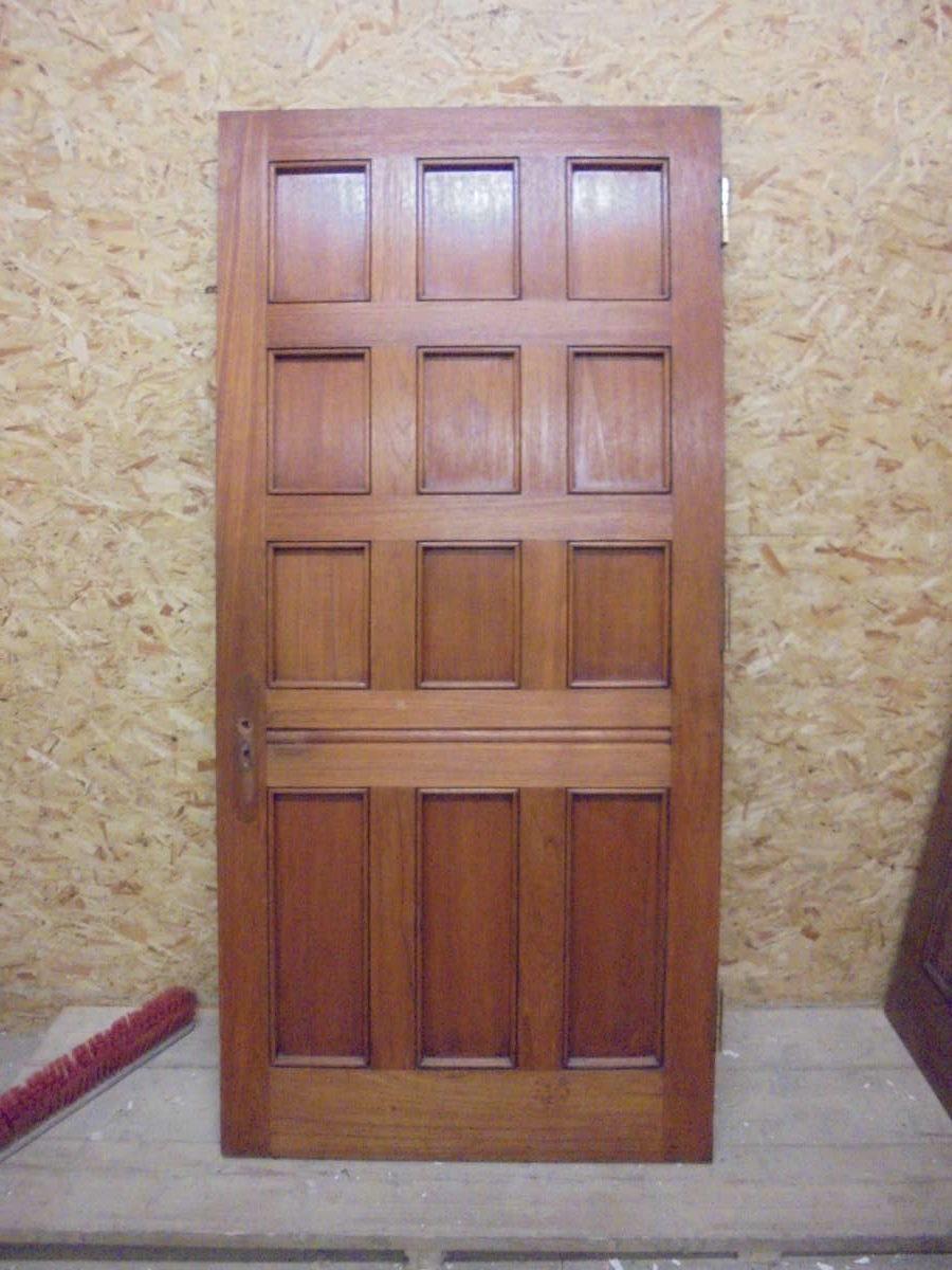 Large Dark 12 Panel Oak Door Authentic Reclamation
