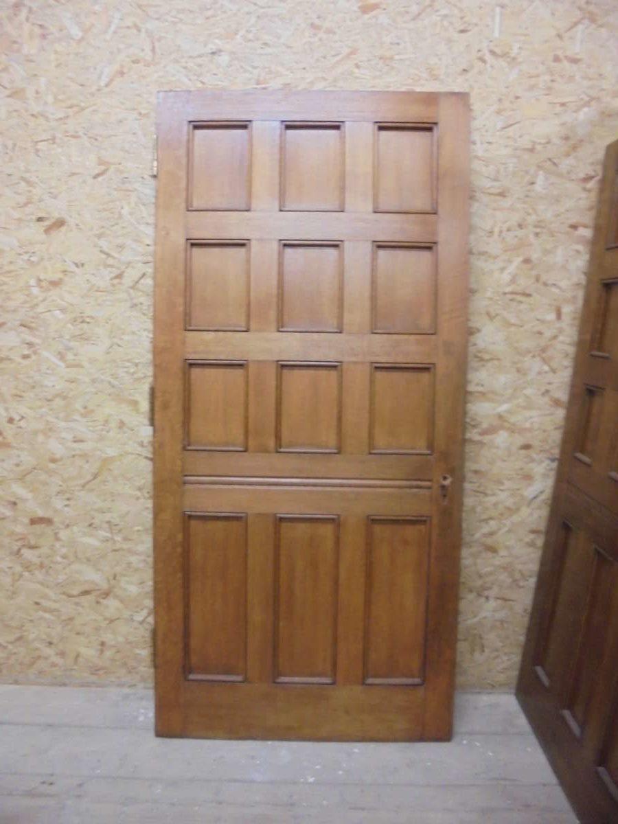 Orange Burst 12 Panel Solid Oak Door Authentic Reclamation