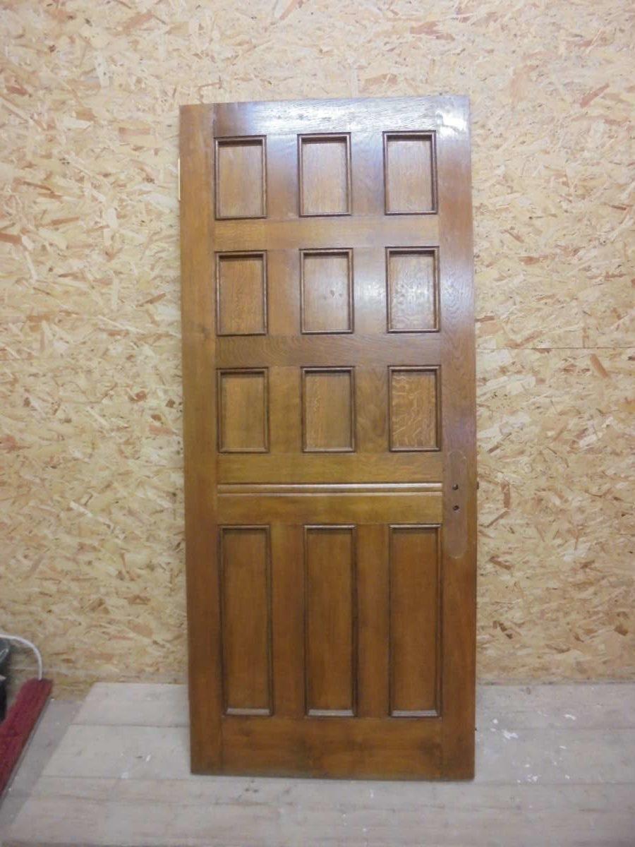 Dark 12 Panel Oak Door Authentic Reclamation
