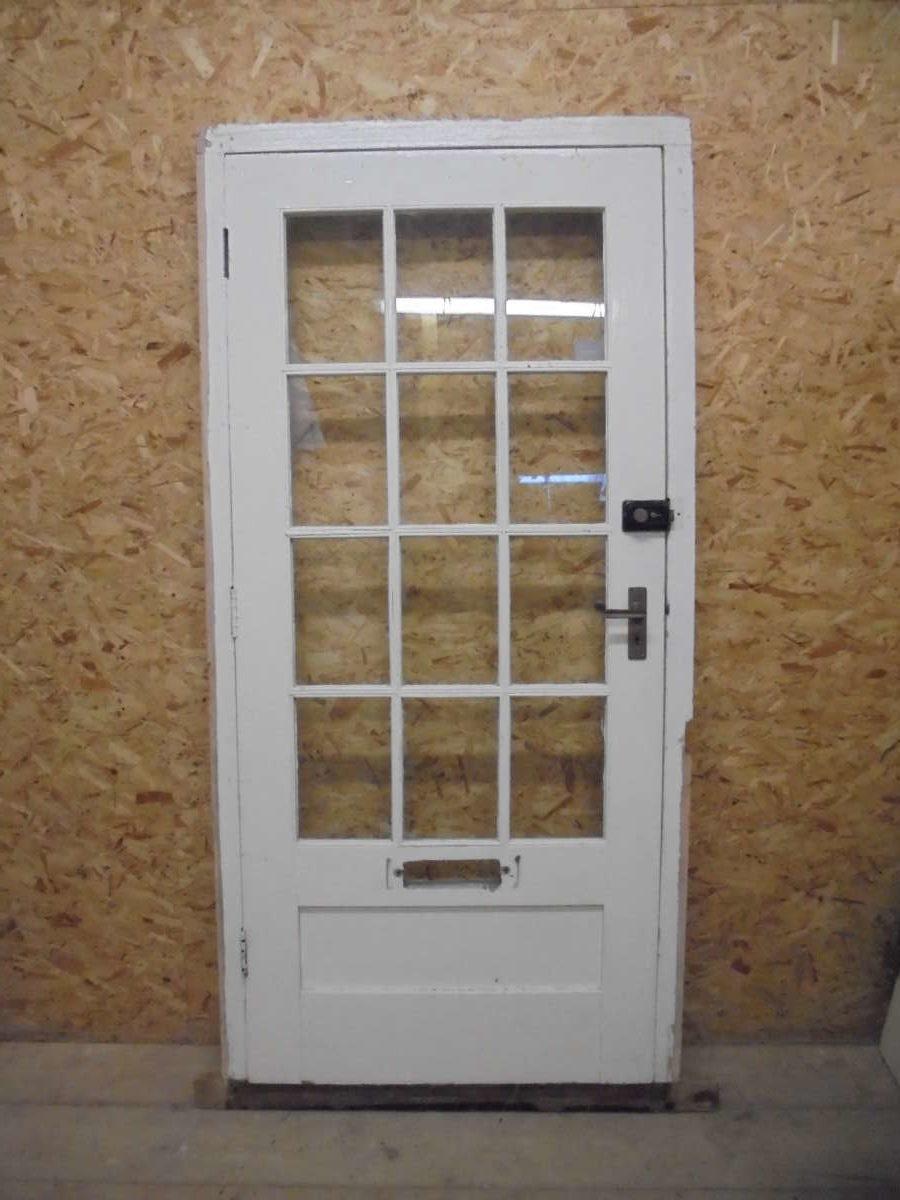 White Half Glazed Door Frame Authentic Reclamation
