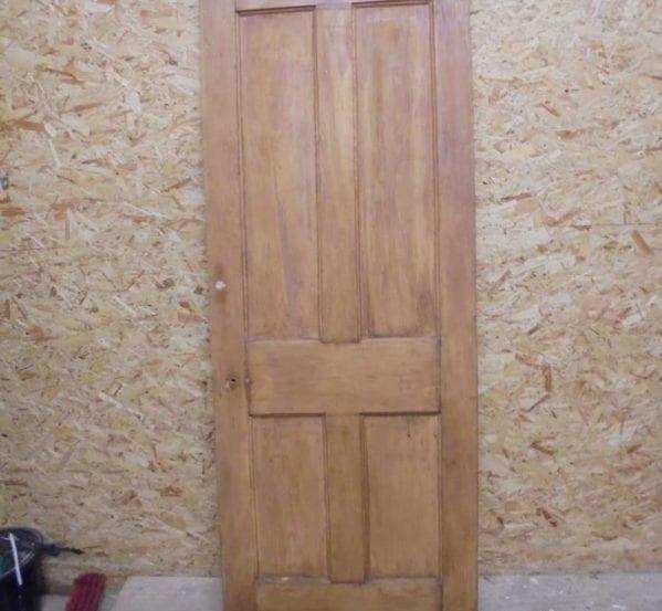 Stripped 4 Panel Door (repaired)