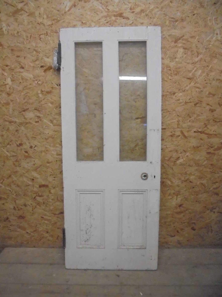 Half Glazed Door With Feature Hinges Authentic Reclamation