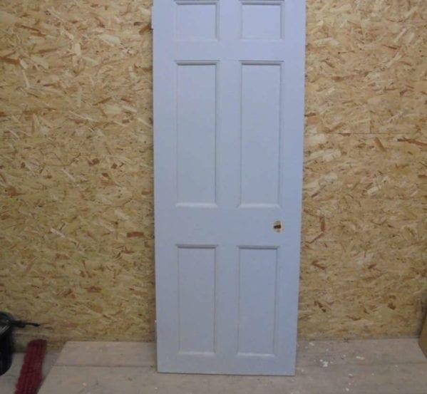 Grey Painted 6 Panel Door