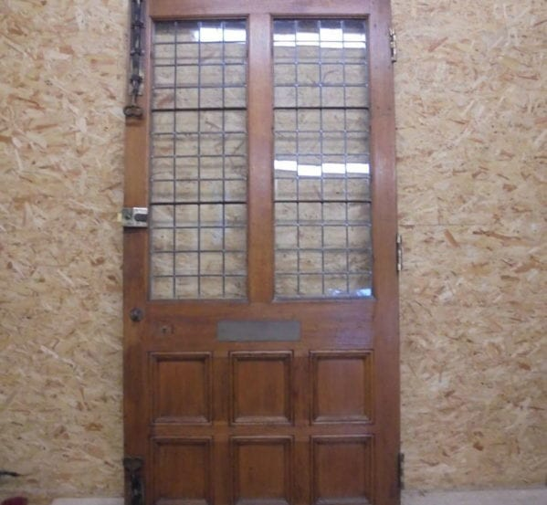 Solid Oak Half Glazed 8 Panel Door
