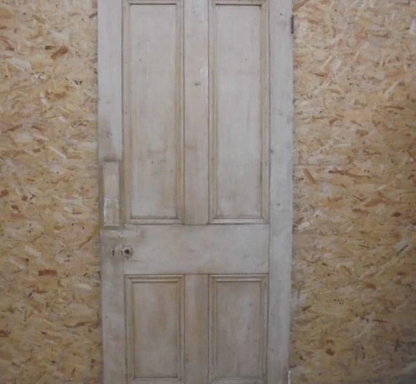 Half Stripped 4 Panelled Door