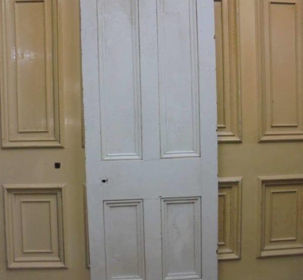 Medium Sized Painted 4 Panel Door