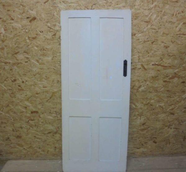 White 4 Panel Door Inc Thumb Latch
