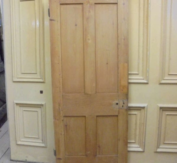 Small Stripped 4 Panelled Door