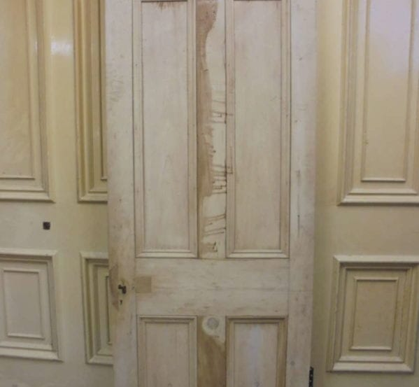 Solid Stripped 4 Panelled Door