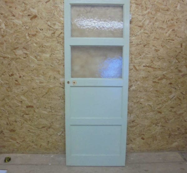 Painted 4 panelled Half Glazed Door