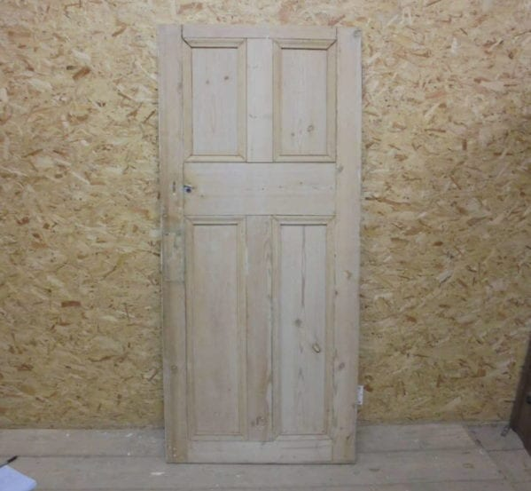 Half Painted Large 4 Panelled Door
