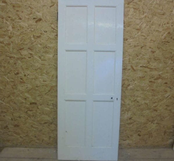 White Painted One-sided 6 Panel Door