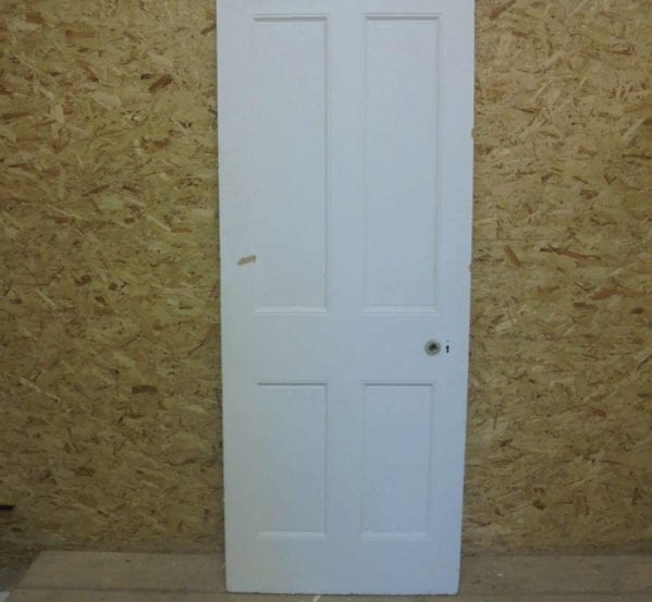 Large White Painted 4 Panelled Door