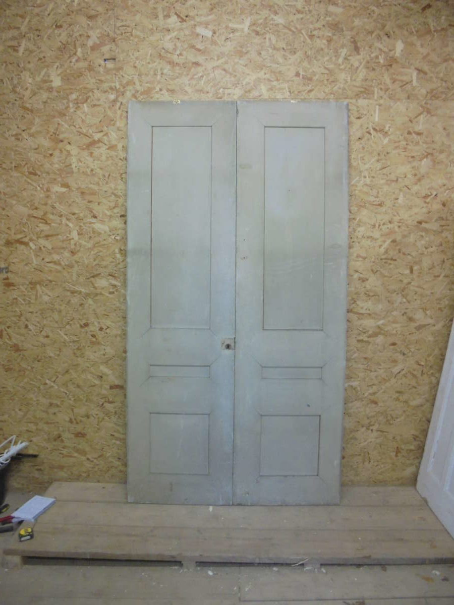Large Set of Beautiful Double Doors with 3 Panels