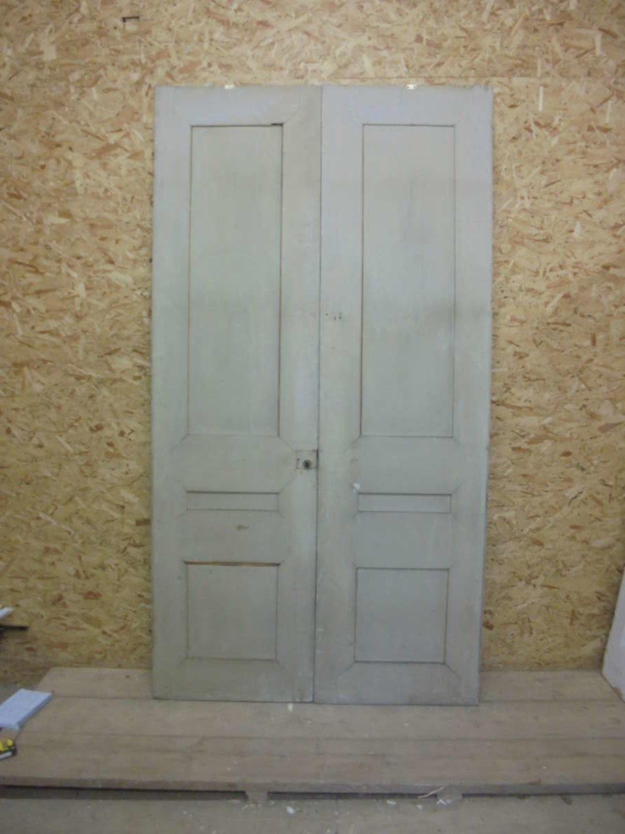 Beautiful Set Double Doors with 3 Panels