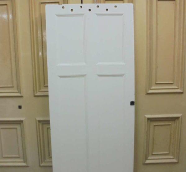4 Panelled White Door Ventilation Holes