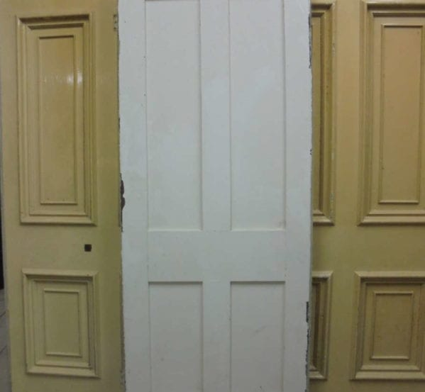 White Painted 4 Panelled Door
