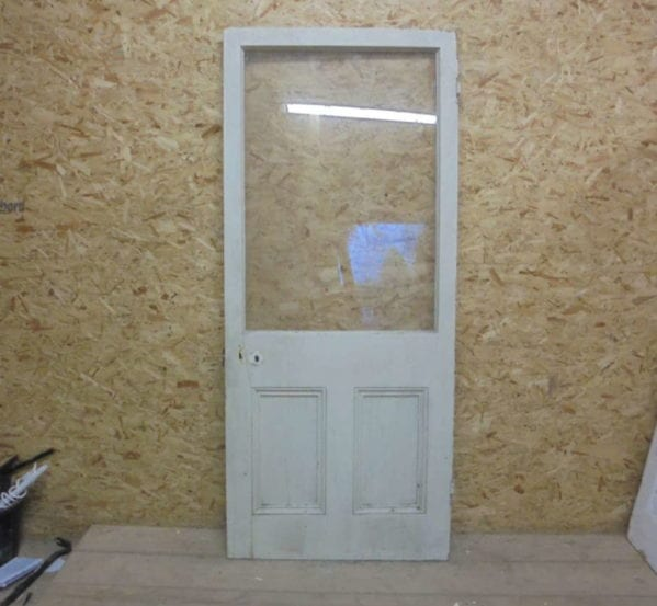 Large Painted Half Glazed Door