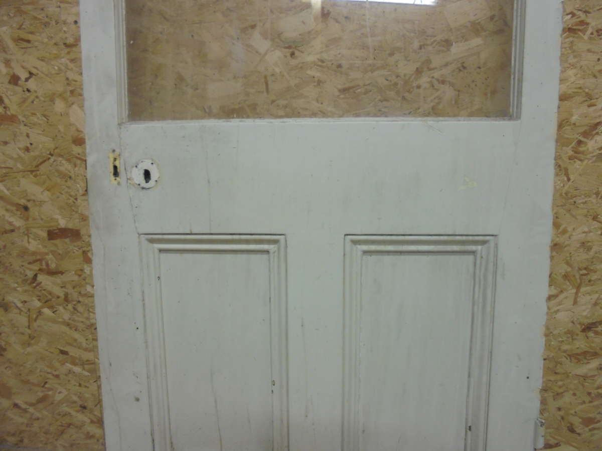Large Painted Half Glazed Door Authentic Reclamation