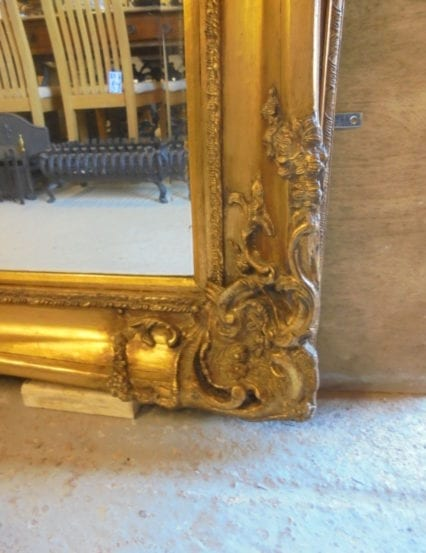 Large Reclaimed Ornate Gold Mirror
