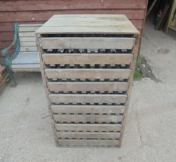 RECLAIMED APPLE STORAGE RACK