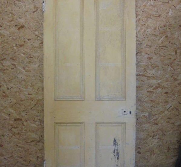 Yellow Victorian 4 Panel Door